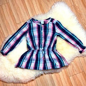 Carters 3T Plaid Girls Top
